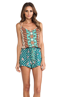 Gypsy 05 X Back Romper in Mandarin