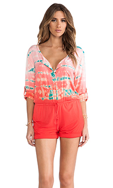 Gypsy 05 Snap Romper in Kiss & Teal
