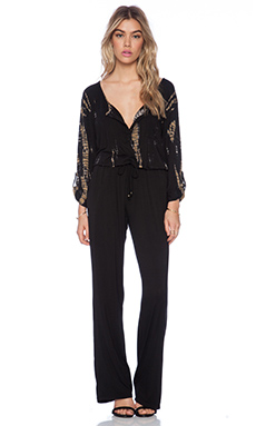 Gypsy 05 Bamboo Jumpsuit in Black & Gold
