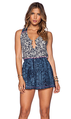 Gypsy 05 V Neck Romper in Eclipse