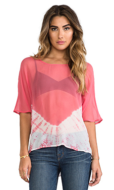 Gypsy 05 Hi-Low Blouse in Coral