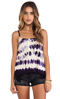Gypsy 05 Waterfall Spaghetti Cami in Cream & Purple