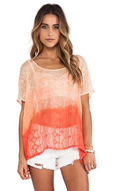 Gypsy 05 Embroidered Easy Top in Melon
