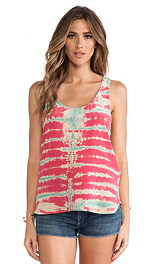 Gypsy 05 Silk Racerback Tank in Raspberry & Cream