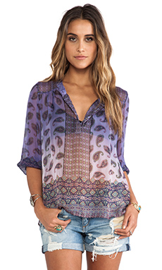 Gypsy 05 3/4 Sleeve Chiffon Blouse in Lavender