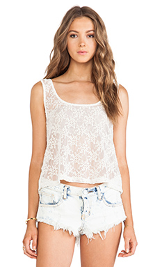 Gypsy 05 Embroidered Crop Top in Natural