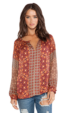 Gypsy 05 Girih Peasant Blouse in Nutmeg Multi