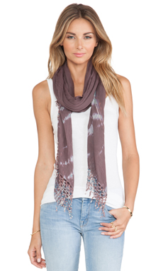 Gypsy 05 Alligator Vat Dye Scarf in Wine