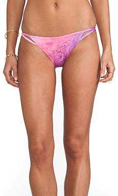 Gypsy 05 Triangle Keyhole Bikini Bottom in Guava