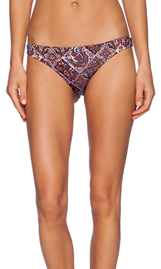 Gypsy 05 Printed Bikini Bottom in Black Multi