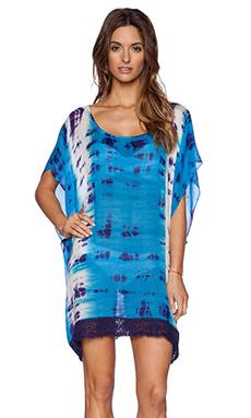 Gypsy 05 Crochet Trim Poncho in Pacific Blue