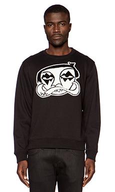 Haculla LES CREW Pullover in Black