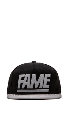 Hall of Fame 3MF Snapback in Black