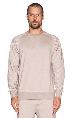 Hall of Fame Tech 3M Dots Crewneck in Heather