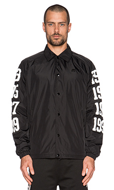 Hall of Fame Dates Coaching Jacket in Black