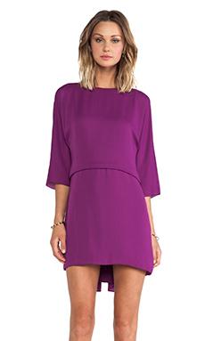 Halston Heritage Ruffle Back Dress in Electric Purple