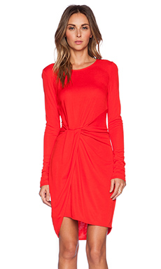 Halston Heritage Long Sleeve Jersey Dress in Lipstick