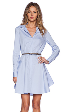 Halston Heritage Cotton Shirtdress in Chambray