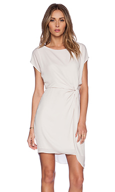 Halston Heritage Cap Sleeve Dress in Dark Bone