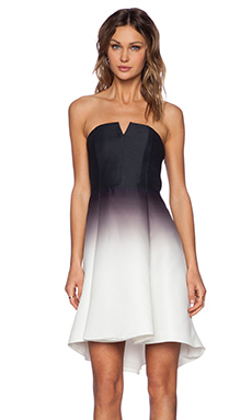 Halston Heritage Structured Dress in Black Ombre