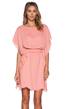Halston Heritage Boat Neck Dress in Blush