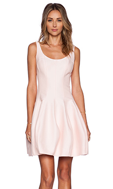 Halston Heritage Tulip Dress in Dusty Pink