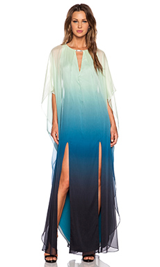 Halston Heritage Caftan Gown in Atlantic Ombre