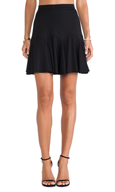 Halston Heritage Fit & Flare Skirt in Black