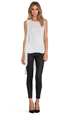 Halston Heritage Draped Front Top in Vapor