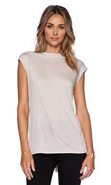 Halston Heritage Boat Neck Top in Dark Bone
