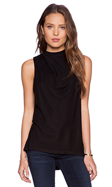 Halston Heritage Mockneck Top in Black