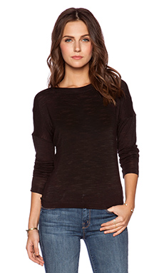 Halston Heritage Back Wrap Drape Top in Black