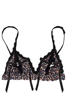 Hanky Panky AFTER MIDNIGHT Peek-A-Boo Bralette in Brown