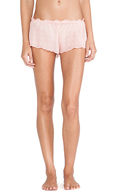 Hanky Panky Darling Dot Tap Short in Pink White