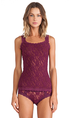 Hanky Panky Signature Lace Unlined Cami in Angora Red