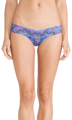 Hanky Panky Blue Paisley Low Rise Thong in Blue