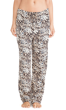 Hanky Panky Animal Twill Drawstring Pant in Brown