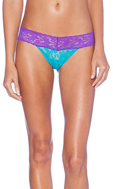 Hanky Panky Colorplay Low Rise Thong in Turkish Tile & Purple Jewel