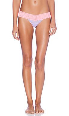Hanky Panky Colorplay Low Rise Thong in Wisteria & Peach Fizz