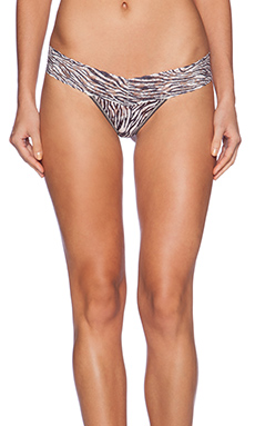 Hanky Panky Animal Classics Low Rise Thong in Ivory & Charcoal