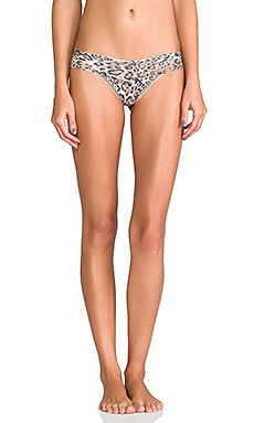 Hanky Panky Leopard Noveau Low Rise Thong in Brown