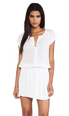 MONROW Basic Blouse Dress in White