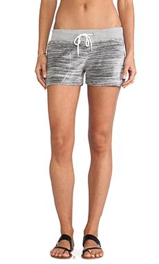MONROW Cosmic Velour Vintage Shorts in Linen