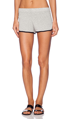 MONROW Supersoft Lounge Short in Dark Heather