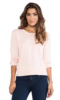 MONROW Vintage Basics Crew Sweatshirt in Rose