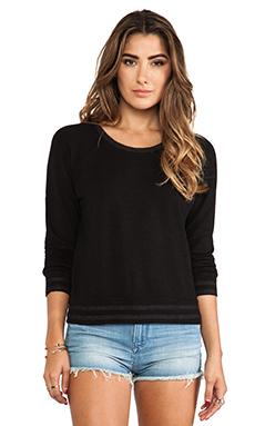 MONROW Athletic Sweatshirt in Black