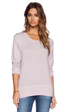 MONROW Crew Neck Sweatshirt in Lavender