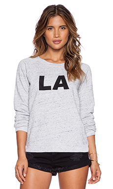 MONROW LA Sweatshirt in Heather Grey