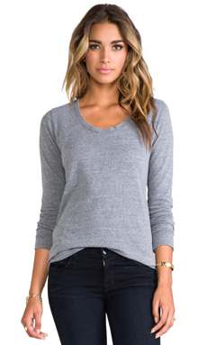 MONROW Boyfriend Sweatshirt in Dark Heather