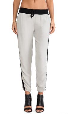 MONROW Crepe Track Pants in Linen